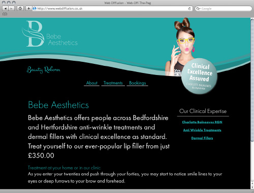 Bedfordshire botox clinic Web Diffusion website design