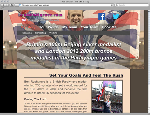 Paralympian Web Diffusion website design