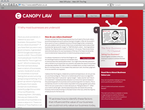 Solicitors Web Diffusion website design