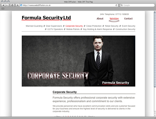 Bedfordshire security firm Web Diffusion website design