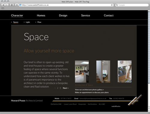 Harpenden architects Web Diffusion website design