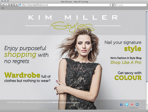 Womens fashion stylist Web Diffusion website design