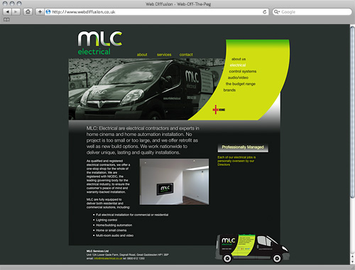 Harpenden electrician Web Diffusion website design