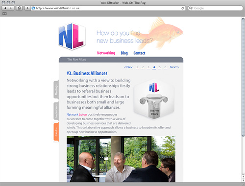 Luton networking group Web Diffusion website design