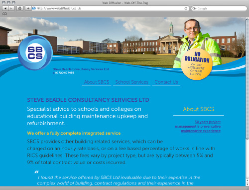 School facilities maintenance Web Diffusion website design