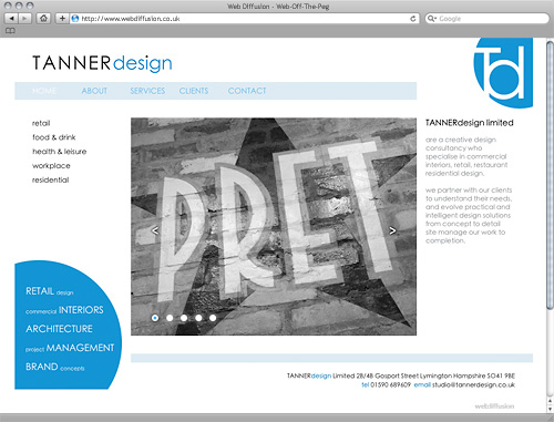 Architects Web Diffusion website design