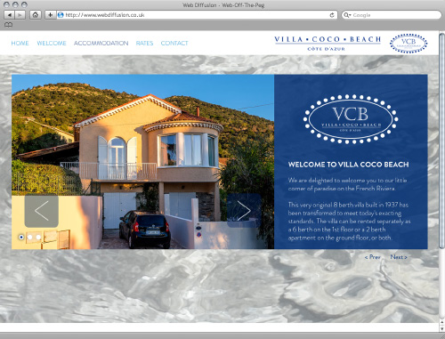 French property Web Diffusion website design