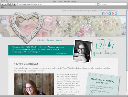 Wedding planner Web Diffusion website design
